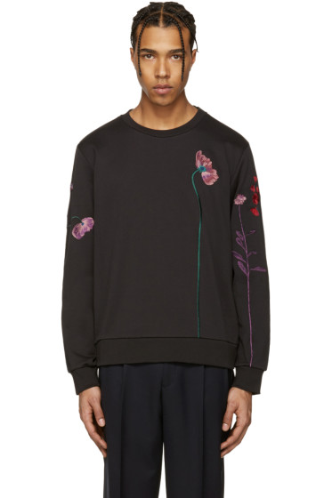 Paul Smith - Black Flowers & Stems Pullover