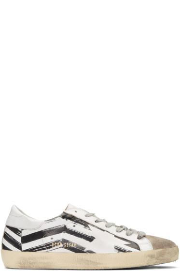 Golden Goose - White Flag Superstar Sneakers