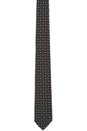 Givenchy - Black Big & Small Stars Tie
