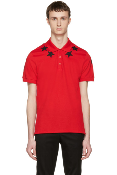 Givenchy - Red Star Patch Polo