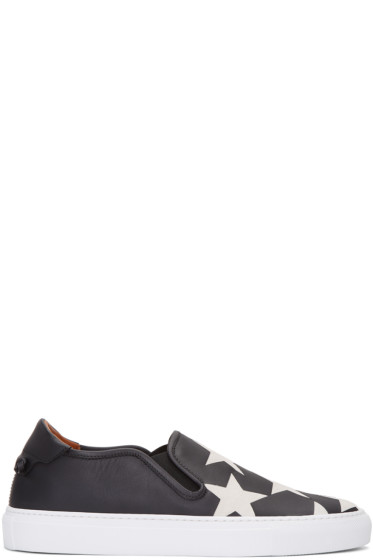Givenchy - Black Star Street Skate Slip-On Sneakers
