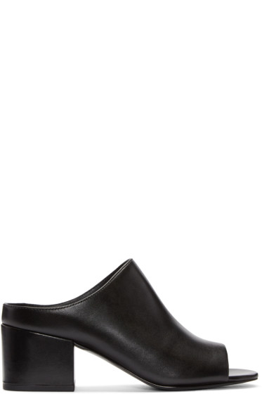 3.1 Phillip Lim - Black Cube Slip-On Sandals