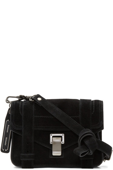 Proenza Schouler - Black Suede Mini PS1 Crossbody Bag