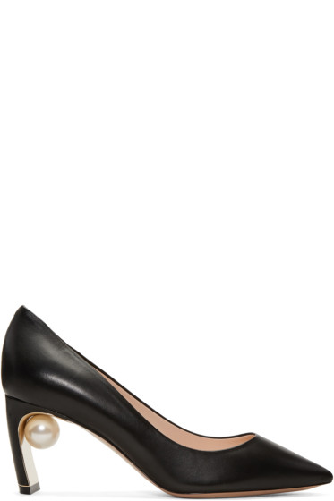 Nicholas Kirkwood - Black Maeva Pearl Heels