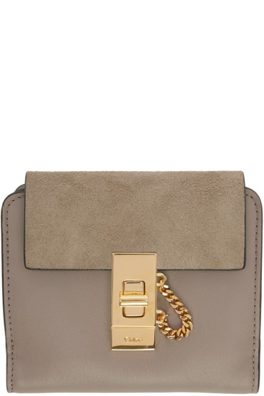Chloé - Grey Square Drew Wallet