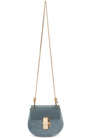 Chloé - Blue Mini Drew Saddle Bag