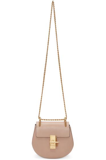 Chloé - Beige Mini Drew Saddle Bag