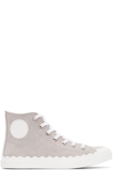Chloé - Grey Kyle High-Top Sneakers