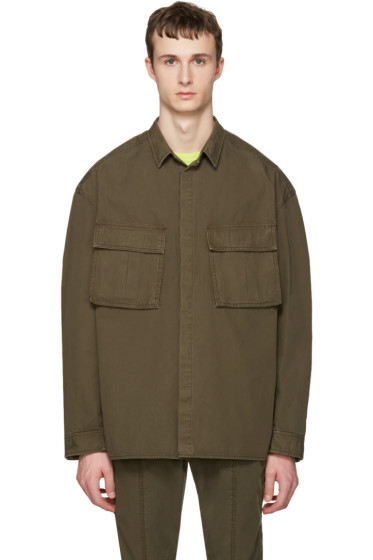 Juun.J - Khaki Oversized Military Shirt