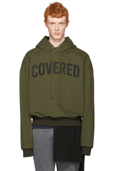 Juun.J - Green 'Covered' Hoodie