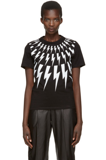 Neil Barrett - Black Thunderbolt T-Shirt
