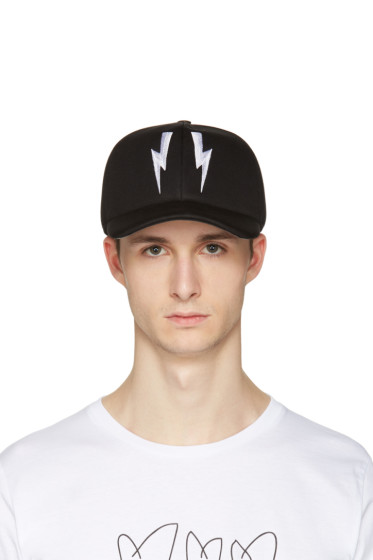 Neil Barrett - Black Neoprene Thunderbolt Cap