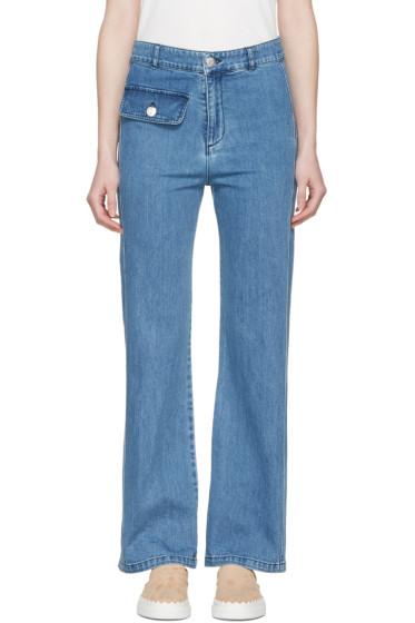 See by Chloé - Indigo Denim Flared Jeans