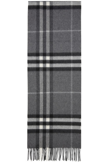 Burberry - Grey Check Giant Icon Scarf