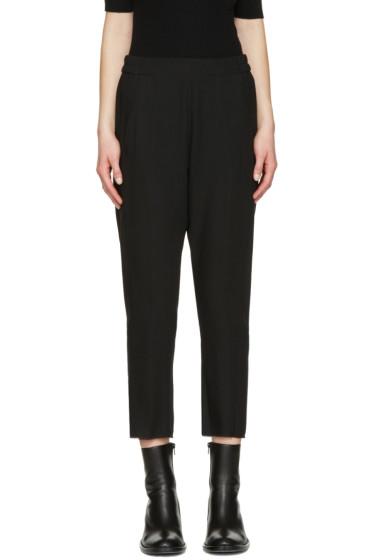 Ann Demeulemeester - Black Wool Crop Trousers