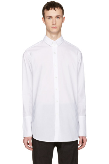 Ann Demeulemeester - White Two Button Shirt
