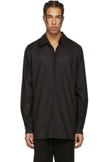 Ann Demeulemeester - Black Back Belt Shirt