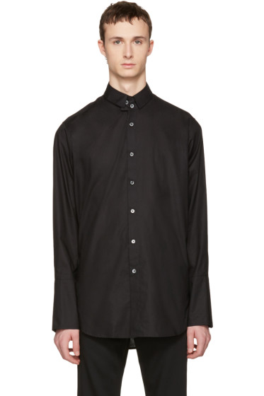 Ann Demeulemeester - Black Two Button Shirt