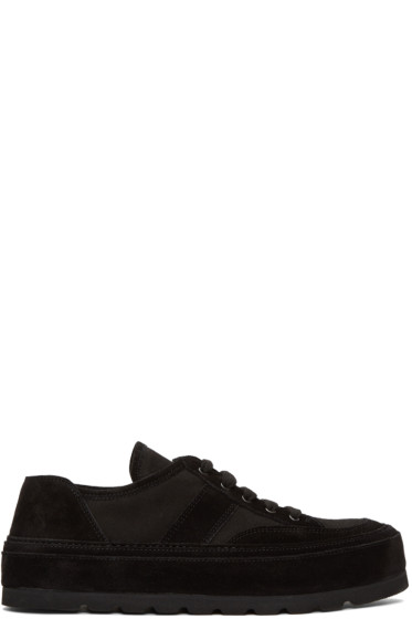Ann Demeulemeester - Black Thick Sole Sneakers