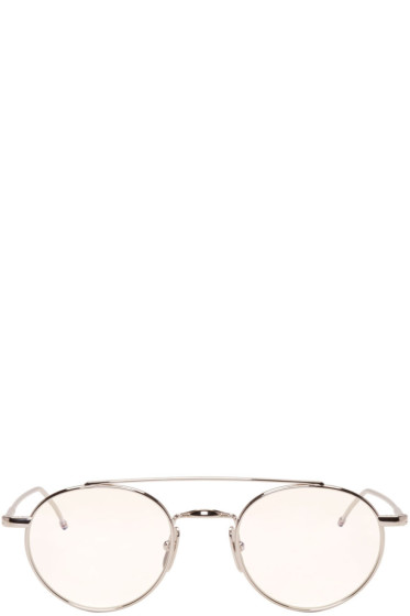 Thom Browne - Silver TB 101 Glasses