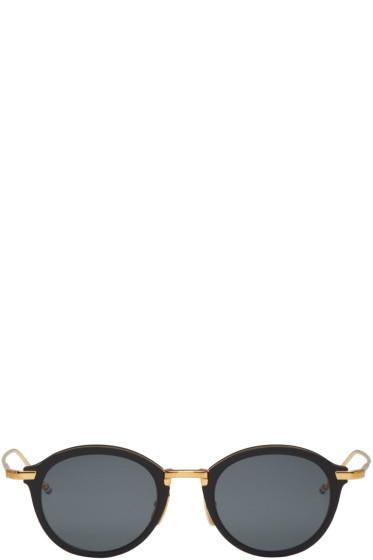 Thom Browne - Black & Gold TB 110 Sunglasses