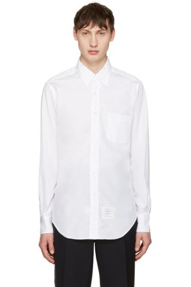 Thom Browne - Off-White Poplin Classic Shirt