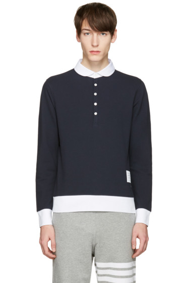 Thom Browne - Navy Collection Polo