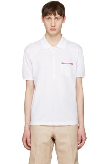 Thom Browne - White Pocket Polo