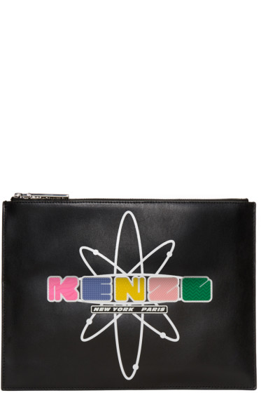 Kenzo - Black Leather Cory Pouch