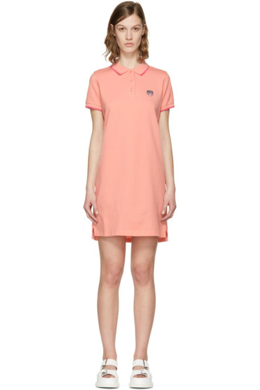 Kenzo - Pink Tiger Crest Polo Dress