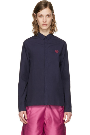 Kenzo - Navy Embroidered Tiger Shirt