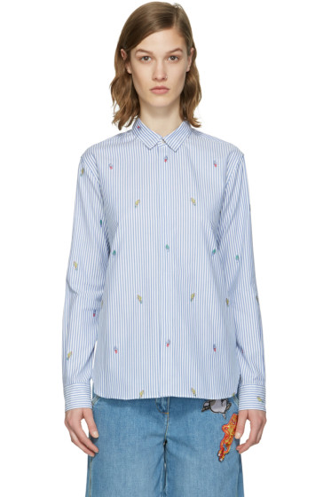 Kenzo - Blue Striped Cartoon Shirt