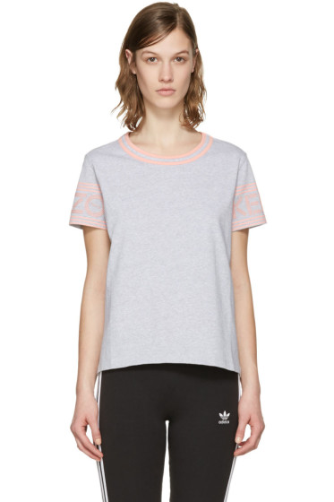 Kenzo - Grey Logo Sleeve T-Shirt