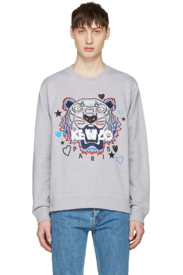 Kenzo - Grey Valentines Tiger Pullover