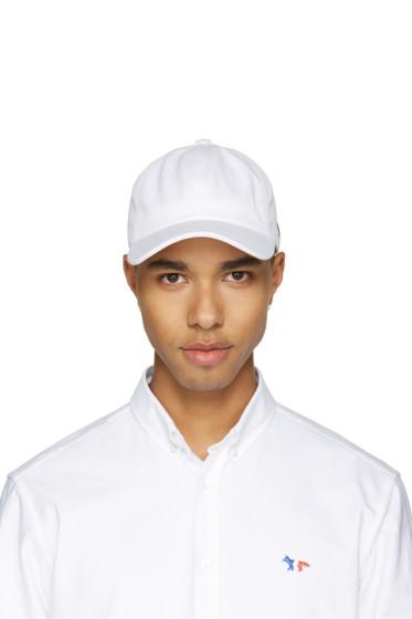 Maison Kitsuné - White Tricolor Fox Cap