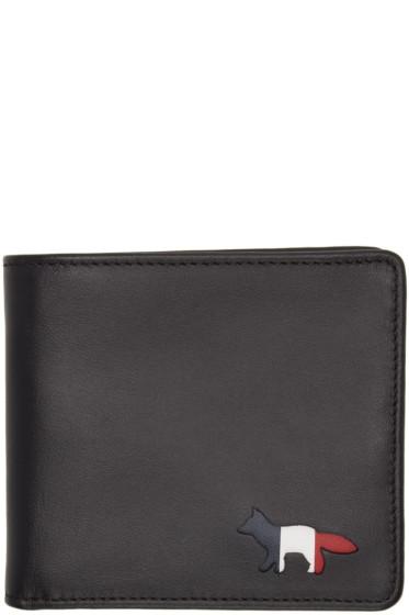 Maison Kitsuné - Black Cut-Out Bifold Wallet