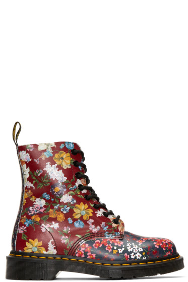 Dr. Martens - Multicolor Floral Mix Pascal PC Boots