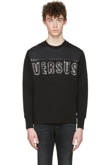 Versus - Black Staple Logo Pullover