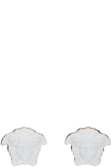 Versace - White Medusa Earrings