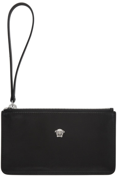 Versace - Black Leather Medusa Pouch