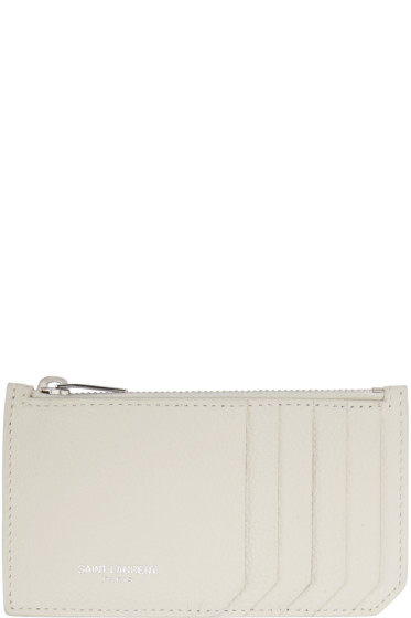 Saint Laurent - Off-White 5 Fragments Zip Card Holder