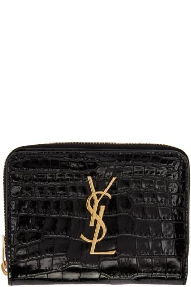 Saint Laurent - Black Monogram Compact Wallet