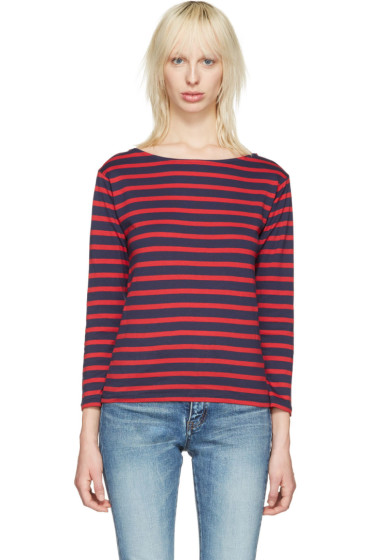 Saint Laurent - Navy Striped Marlon T-Shirt