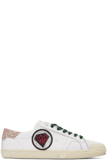 Saint Laurent - Off-White Court Classic Patches Sneakers