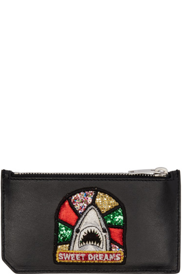 Saint Laurent - Black Sweet Dreams Shark Fragments Card Holder