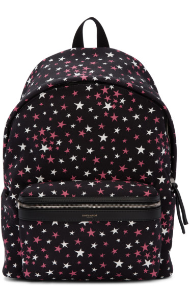 Saint Laurent - Black Stars City Backpack