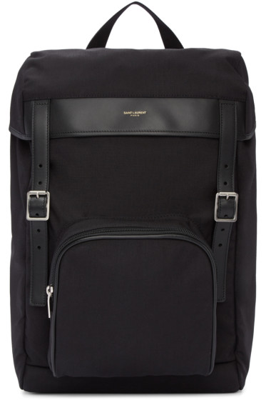 Saint Laurent - Black Canvas Hunting Rucksack