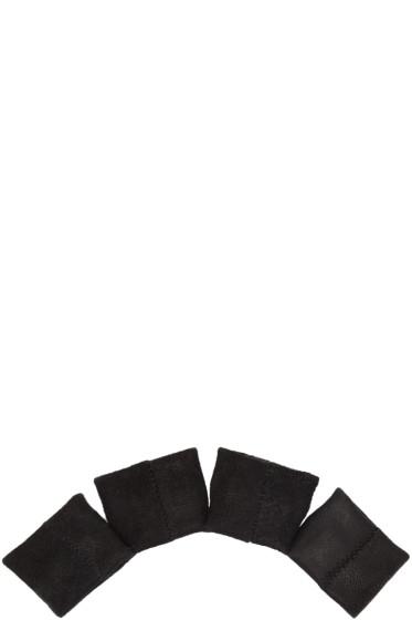 Julius - Black Leather Knuckle Glove