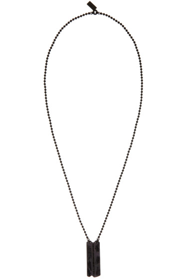 Julius - Black Dog Tag Necklace