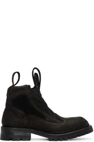 Julius - Black Tank Boots